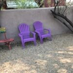purple chairs front